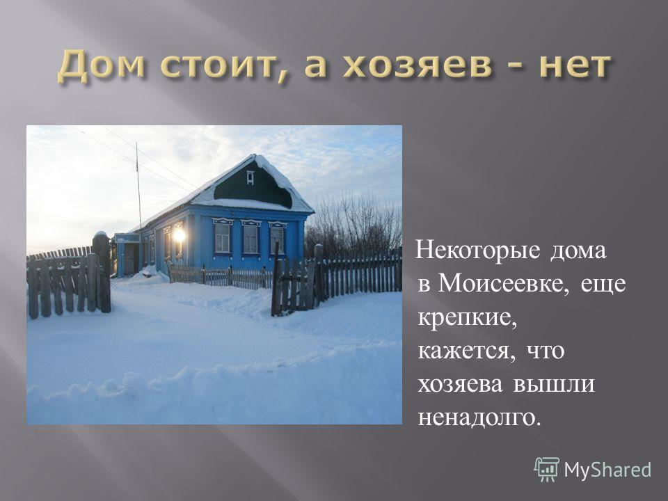 Некоторые дома в Моисеевке, еще крепкие, кажется, что хозяева вышли ненадолго.