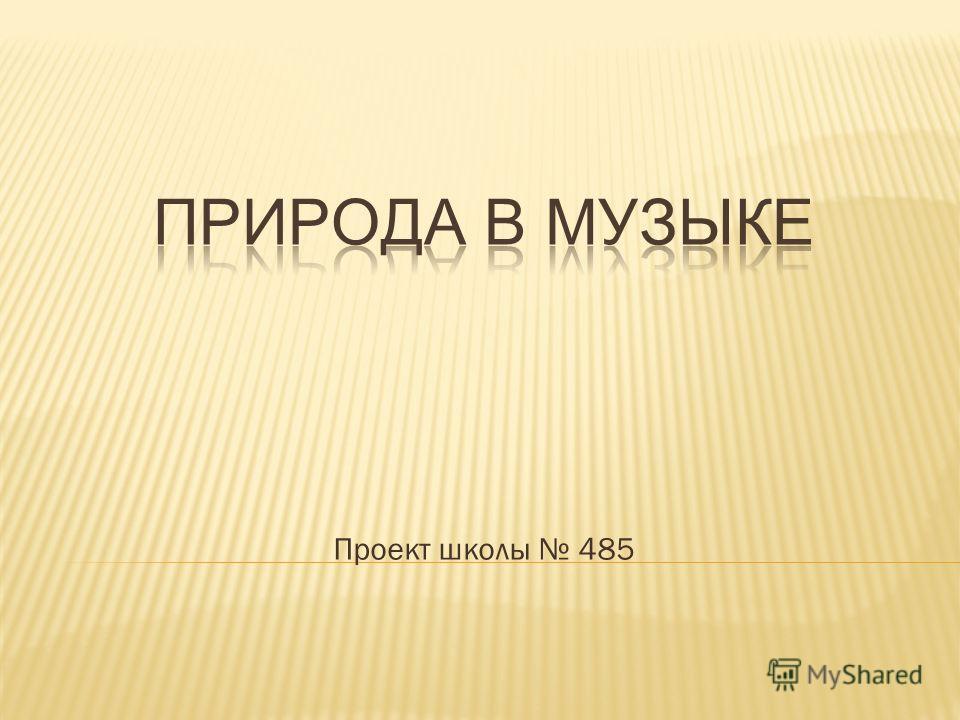 Проект школы 485