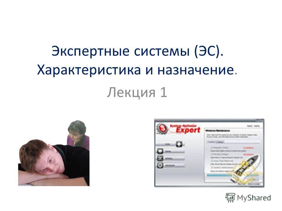 Экспертные системы (ЭС). Характеристика и назначение. Лекция 1