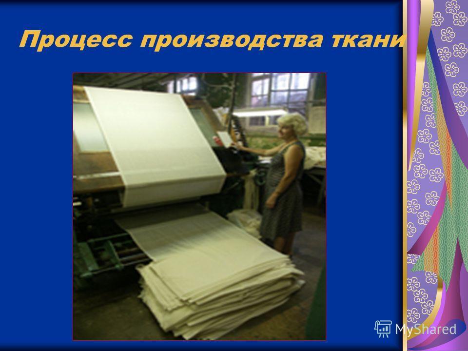 Процесс производства ткани