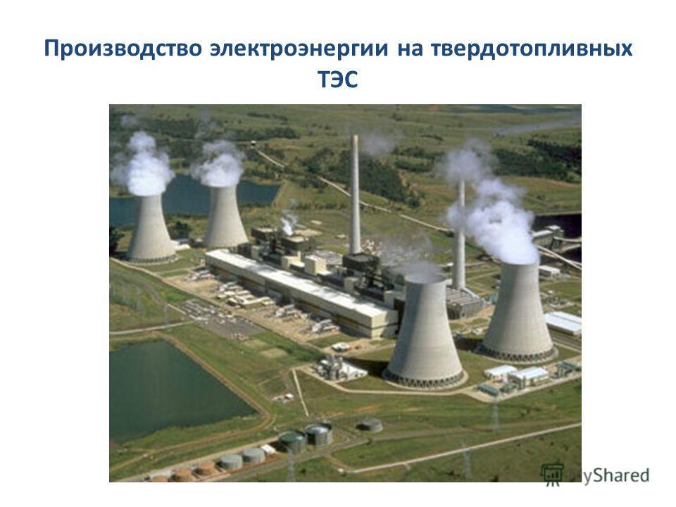 Производство электроэнергии на твердотопливных ТЭС