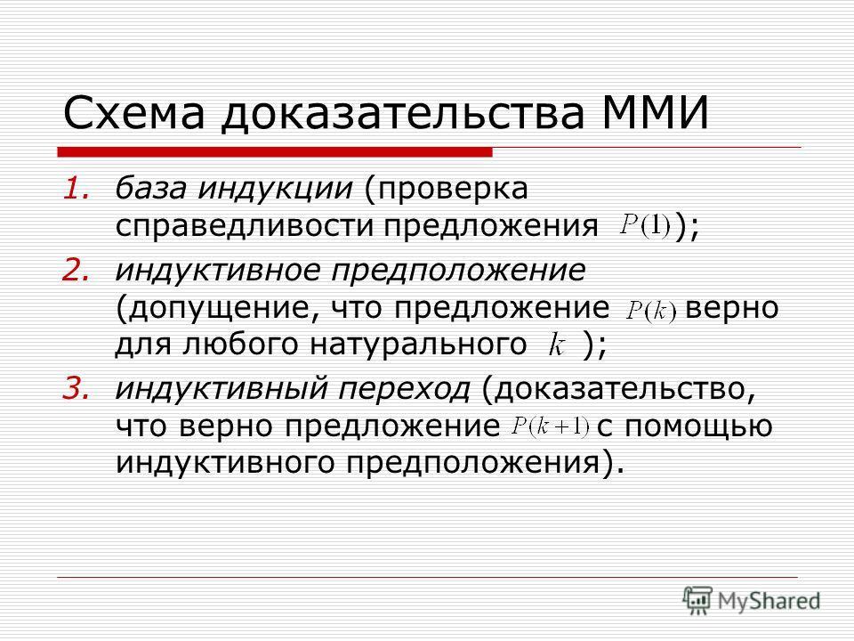 Схема доказательства ММИ