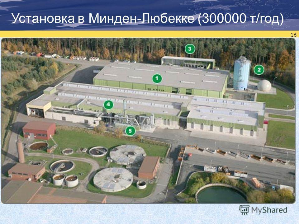 16 Установка в Минден-Любекке (300000 т/год)