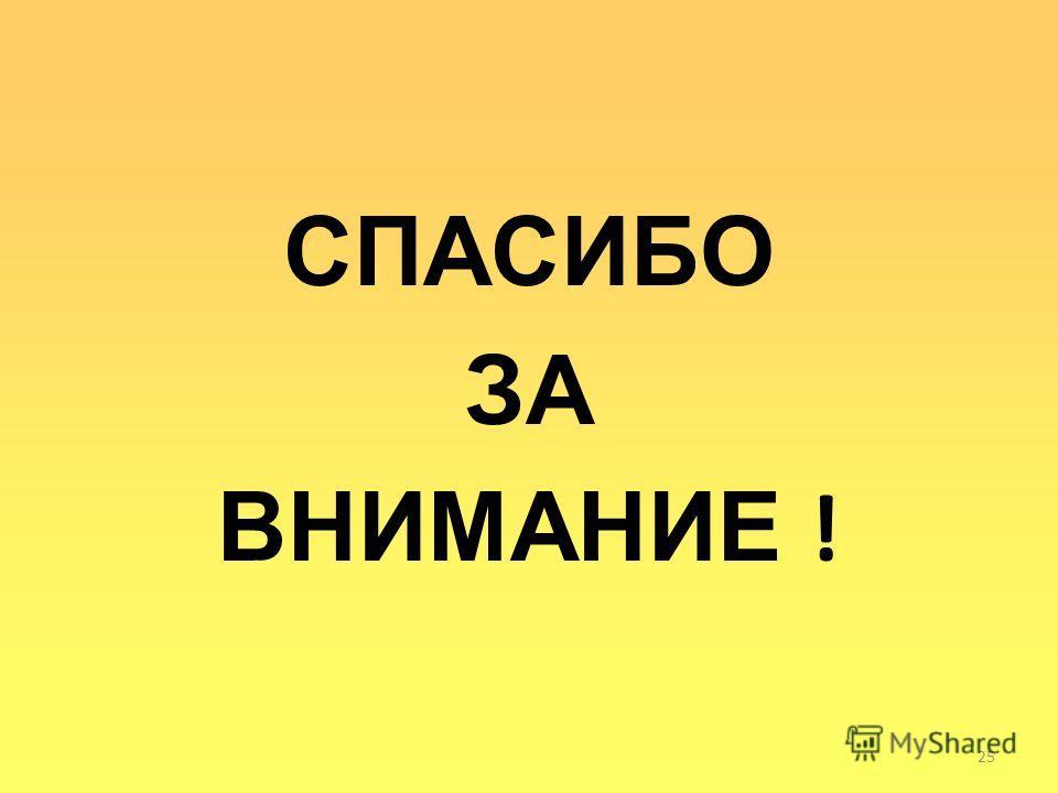 СПАСИБО ЗА ВНИМАНИЕ ! 25