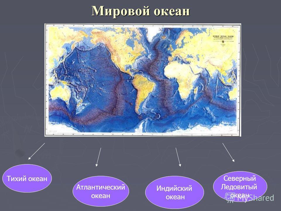 Мировой океан Тихий океан Атлантический океан Индийский океан Северный Ледовитый океан