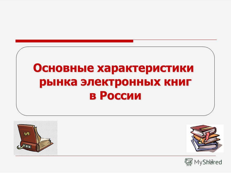12 Основные характеристики рынка электронных книг в России