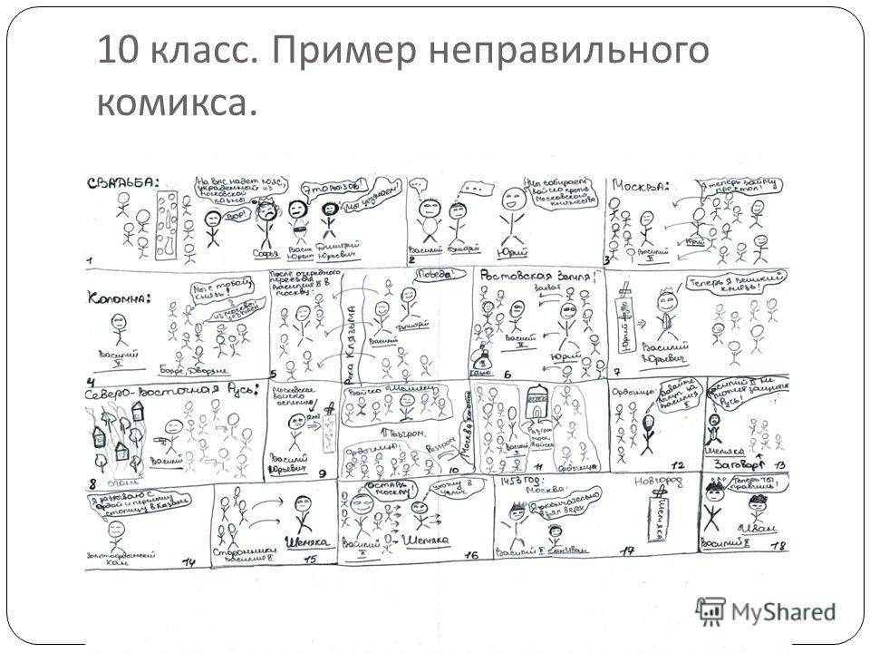 10 класс. Пример неправильного комикса.