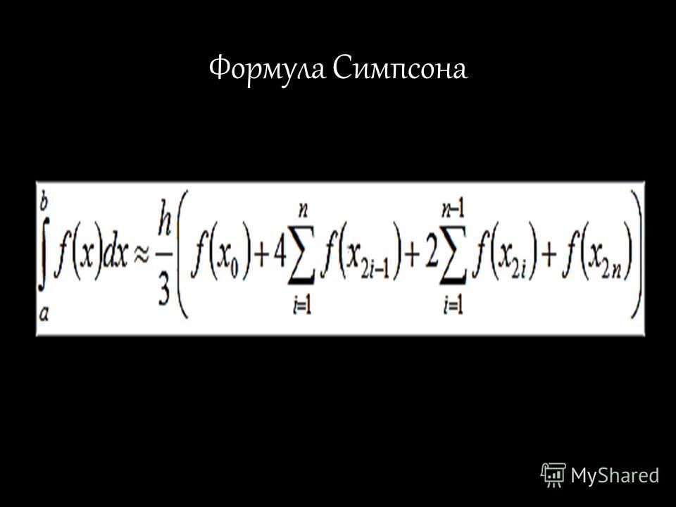 Формула Симпсона