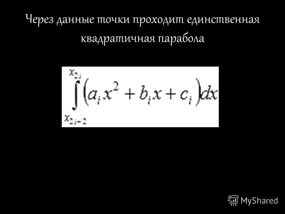 Через данные точки проходит единственная квадратичная парабола