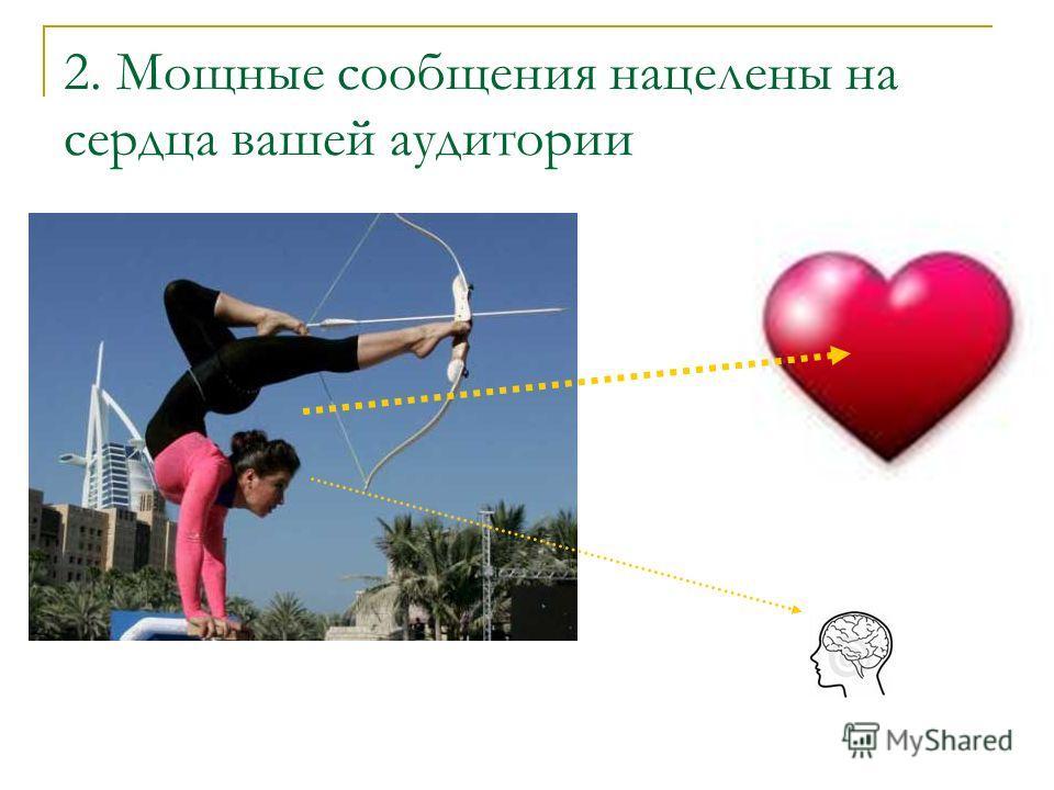 2. Мощные сообщения нацелены на сердца вашей аудитории