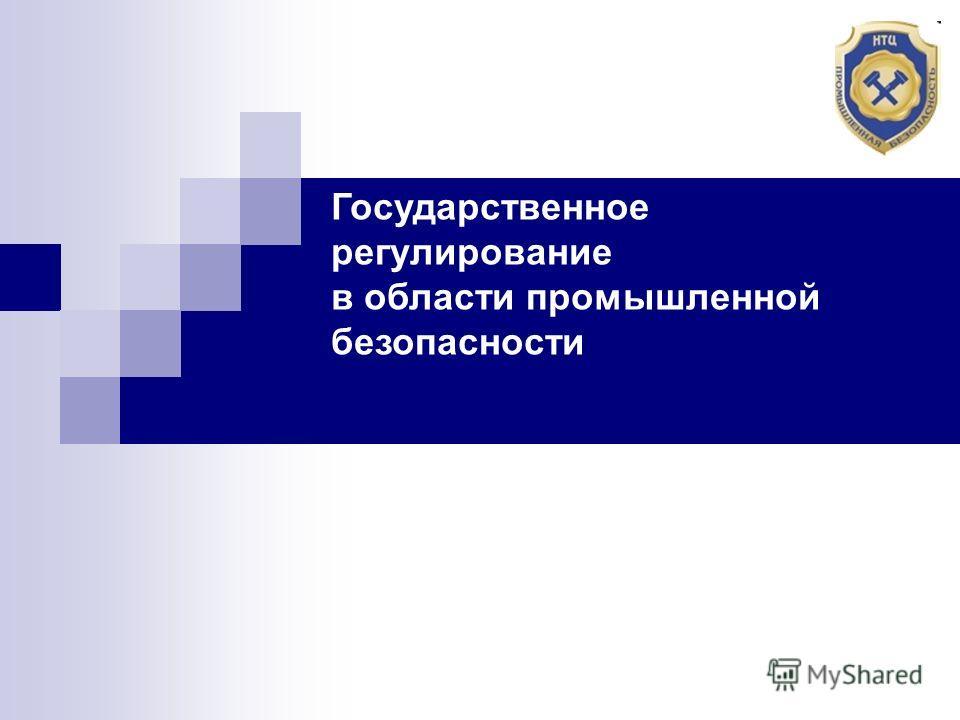 Государственное регулирование в области промышленной безопасности