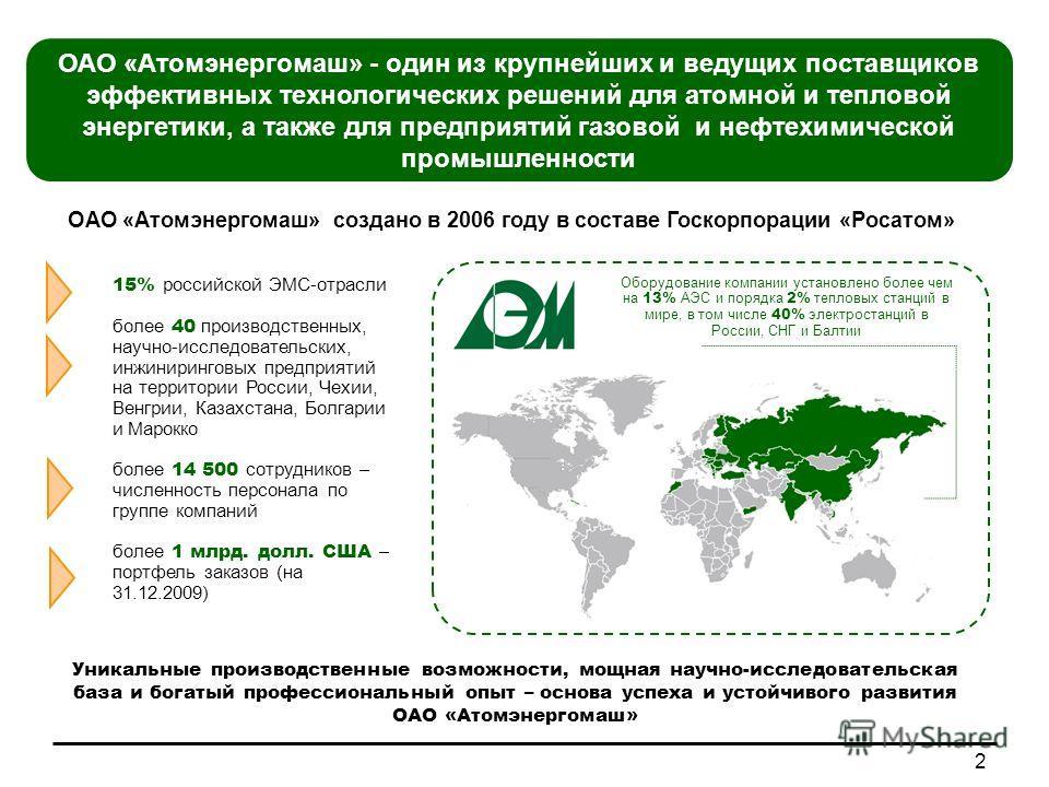 15% российской ЭМС-отрасли более 40 производственных, научно-исследовательских, инжиниринговых предприятий на территории России, Чехии, Венгрии, Казахстана, Болгарии и Марокко более 14 500 сотрудников – численность персонала по группе компаний более