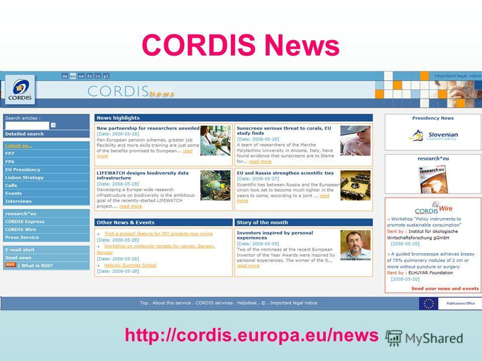 CORDIS News http://cordis.europa.eu/news