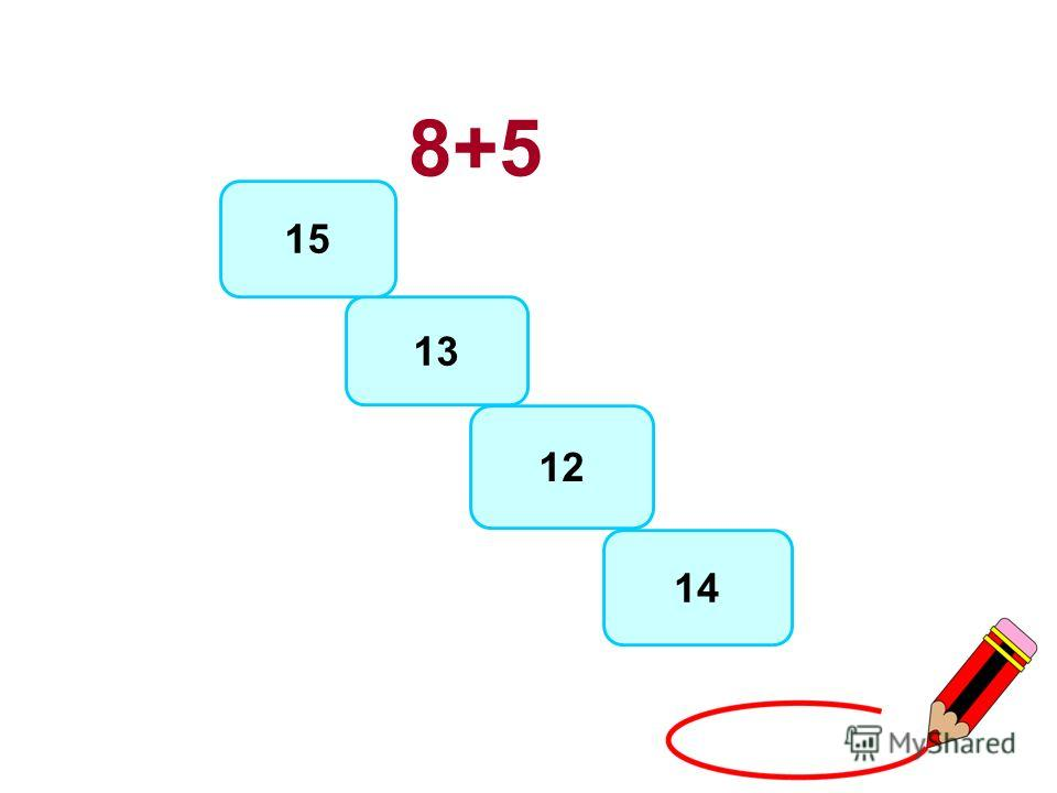 8+5 13 12 14 15