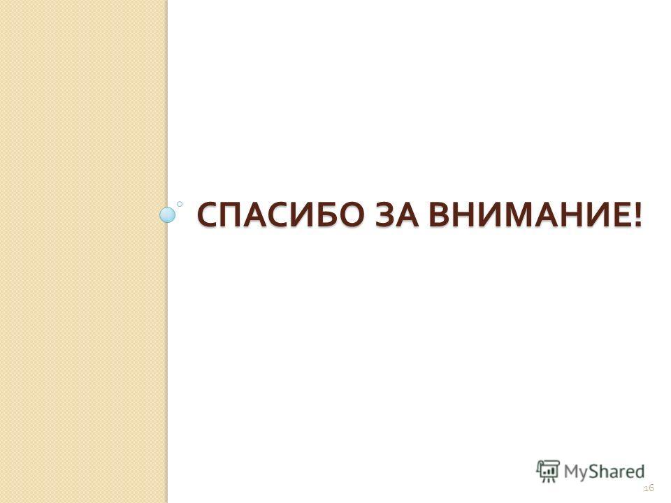 СПАСИБО ЗА ВНИМАНИЕ ! 16