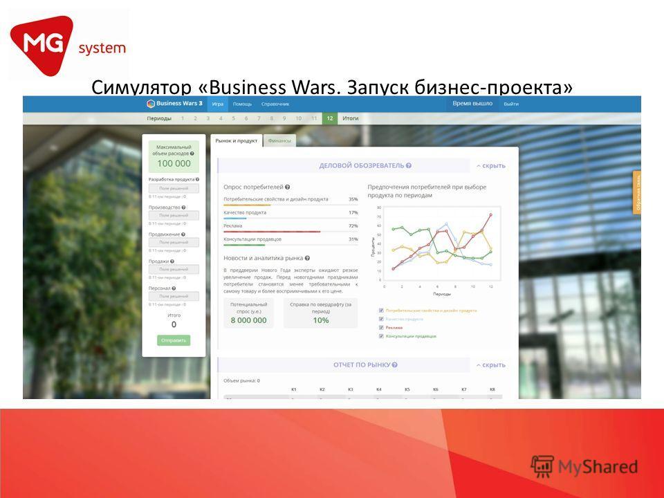 Симулятор «Business Wars. Запуск бизнес-проекта»