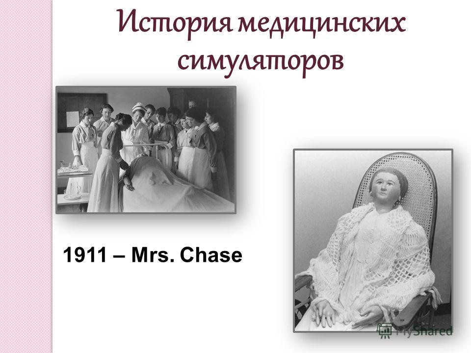 1911 – Mrs. Chase История медицинских симуляторов