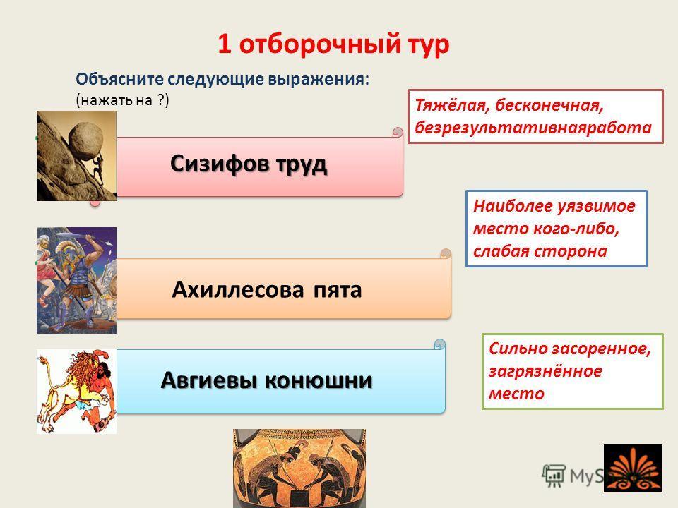 Игра состоит из трёх отборочных туров, трёх полуфиналов, финала и суперигры. Переход к следующему слайду осуществляется через кнопку Желаю удачи!
