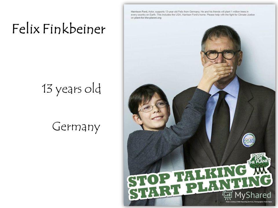 13 years old Germany Felix Finkbeiner
