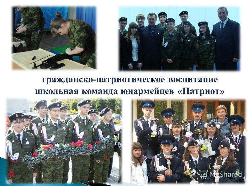 гражданско-патриотическое воспитание школьная команда юнармейцев «Патриот» 14
