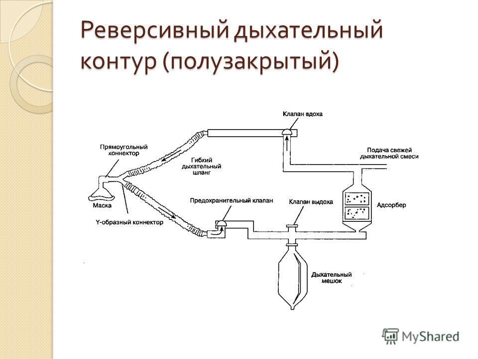 Реверсивный дыхательный контур ( полузакрытый )
