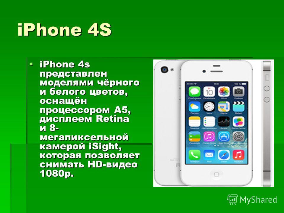 iPhone выглядит вот так: