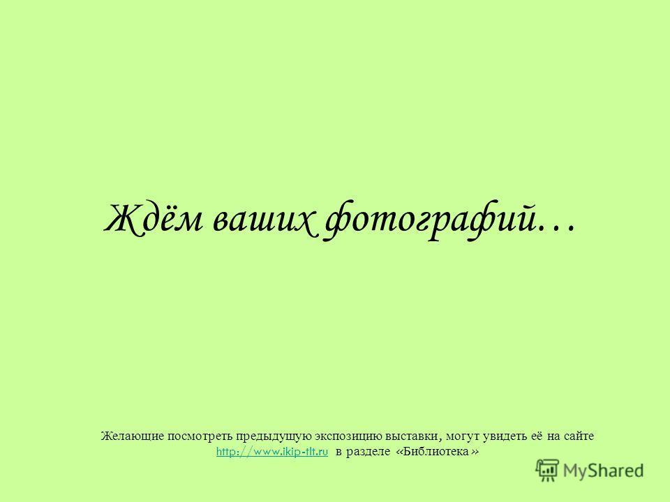 Ждём ваших фотографий… Желающие посмотреть предыдущую экспозицию выставки, могут увидеть её на сайте http://www.ikip-tlt.ru в разделе « Библиотека » http://www.ikip-tlt.ru