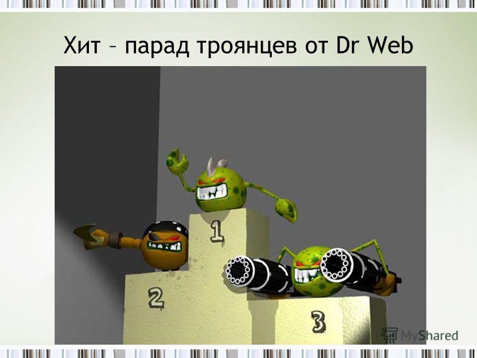 Хит – парад троянцев от Dr Web