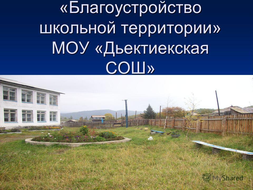 «Благоустройство школьной территории» МОУ «Дьектиекская СОШ»
