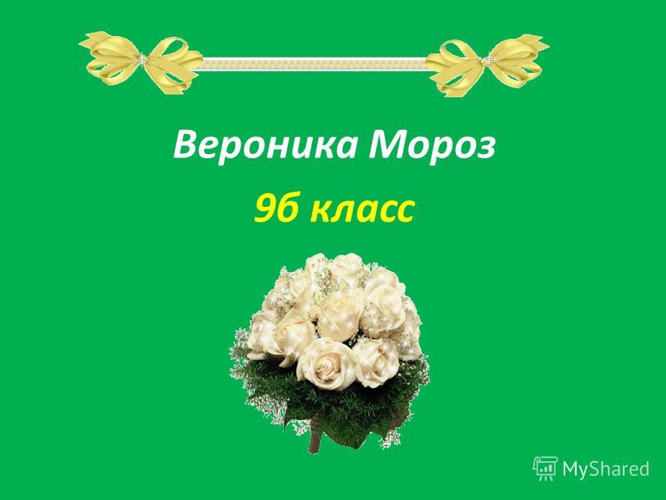 Вероника Мороз 9б класс