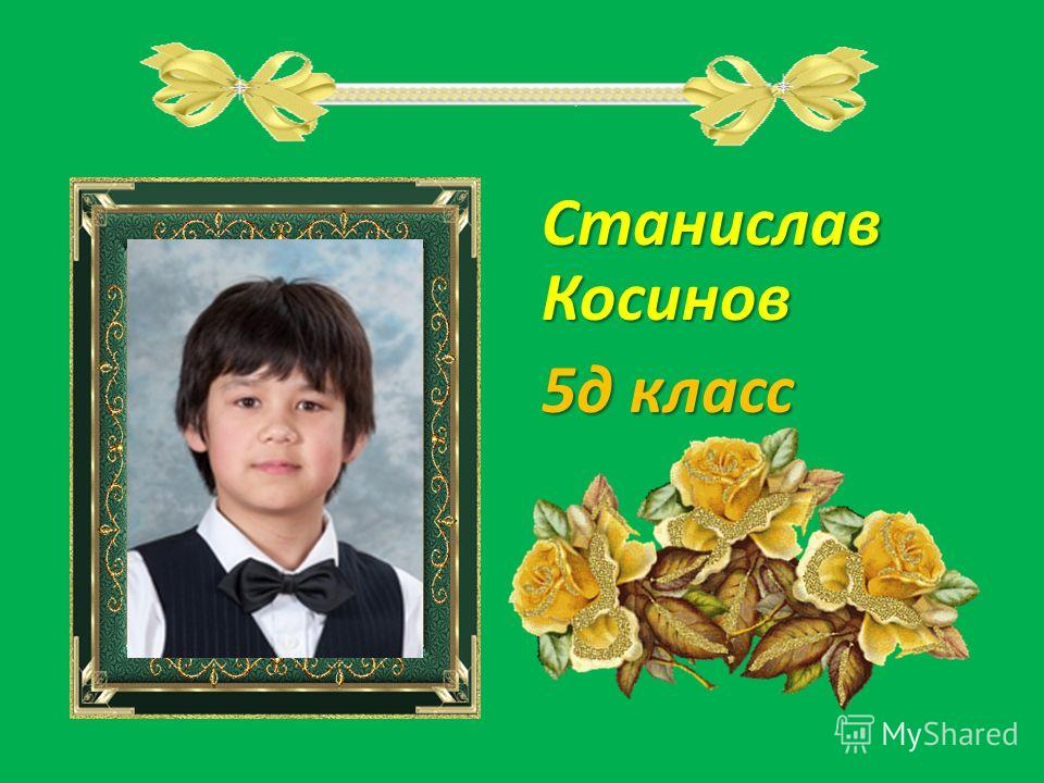Станислав Косинов 5д класс