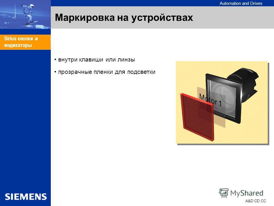 Automation and Drives A&D CD CC Sirius кнопки и индикаторы Маркировка на устройствах внутри клавиши или линзы прозрачные пленки для подсветки