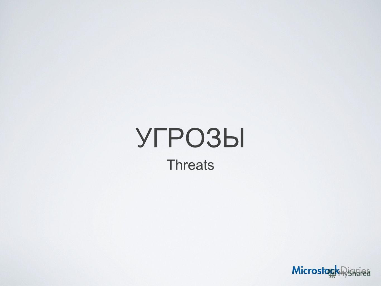 УГРОЗЫ Threats