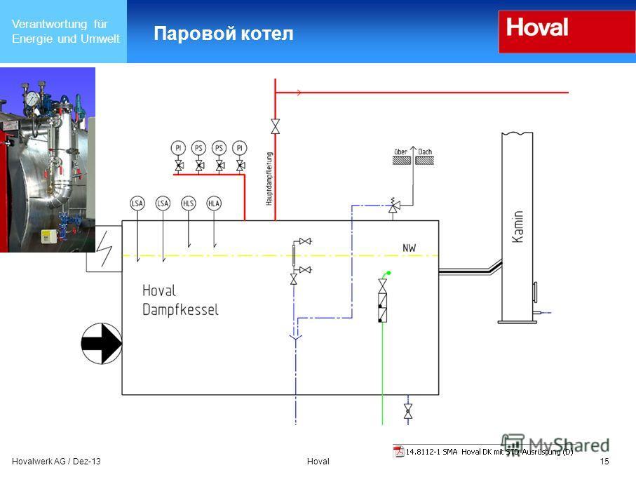 Verantwortung für Energie und Umwelt Hovalwerk AG / Dez-13Hoval15 Паровой котел