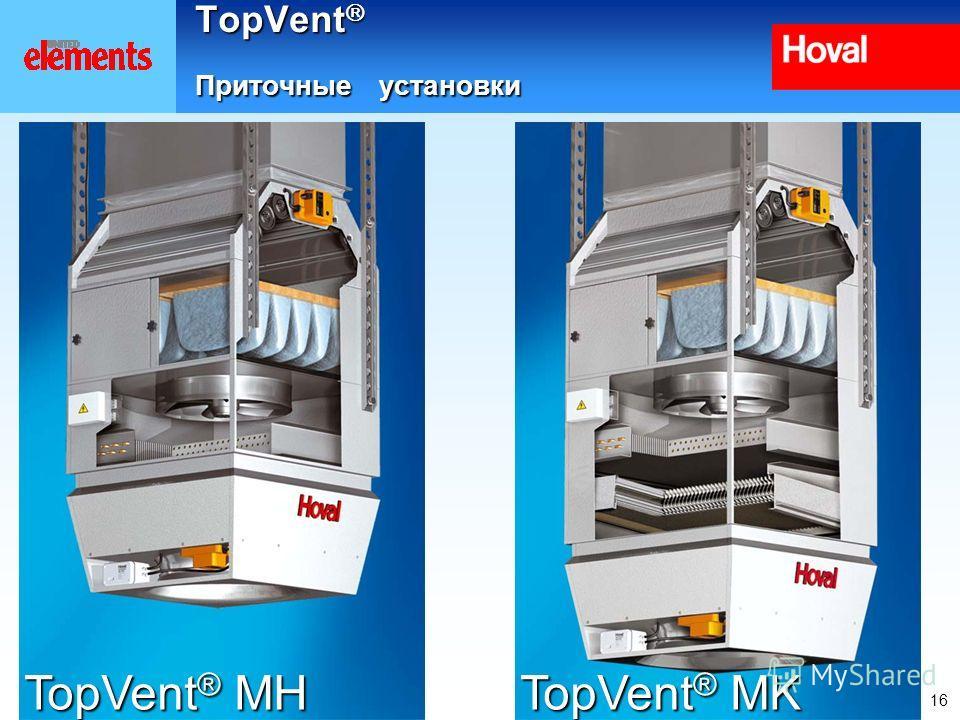 16 TopVent Приточные установки TopVent ® MH TopVent ® MK