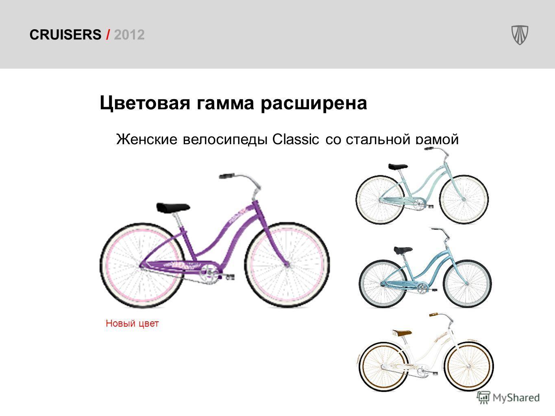 CRUISERS / 2012 Цветовая гамма расширена Женские велосипеды Classic со стальной рамой Новый цвет
