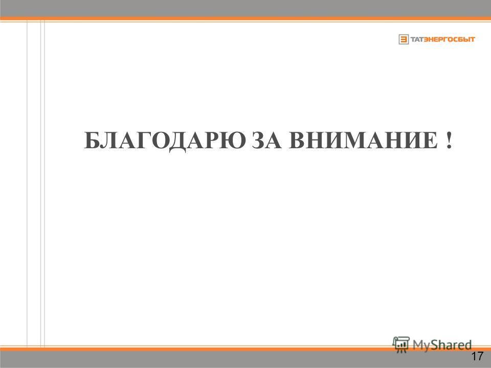БЛАГОДАРЮ ЗА ВНИМАНИЕ ! 17