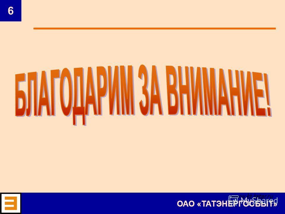 6 ОАО «ТАТЭНЕРГОСБЫТ» www.kt.tatar.ru