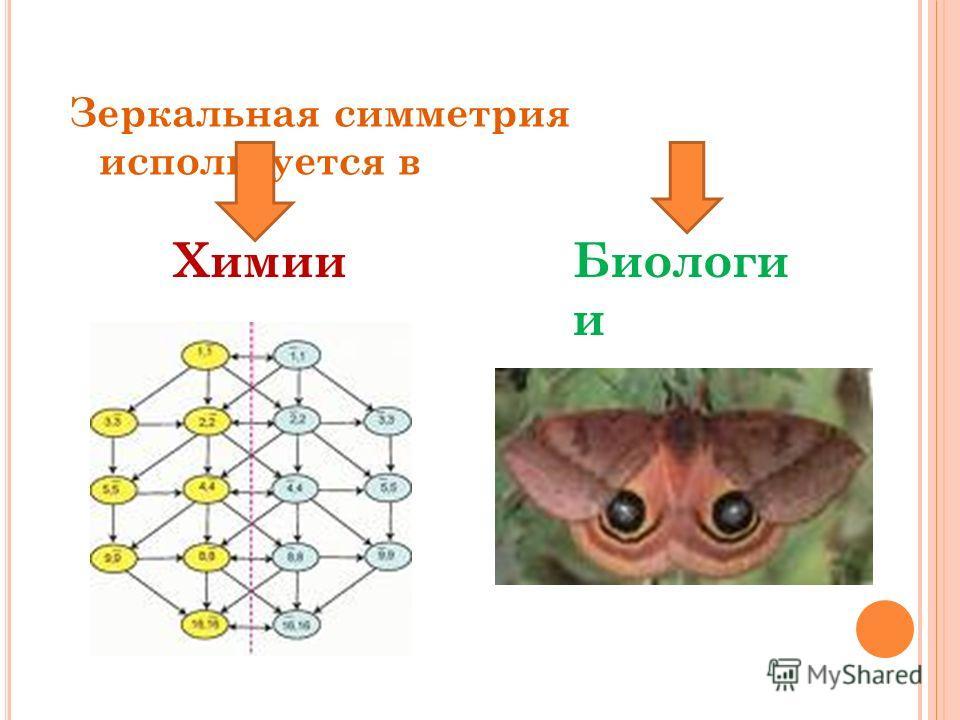 Зеркальная симметрия используется в ХимииБиологи и