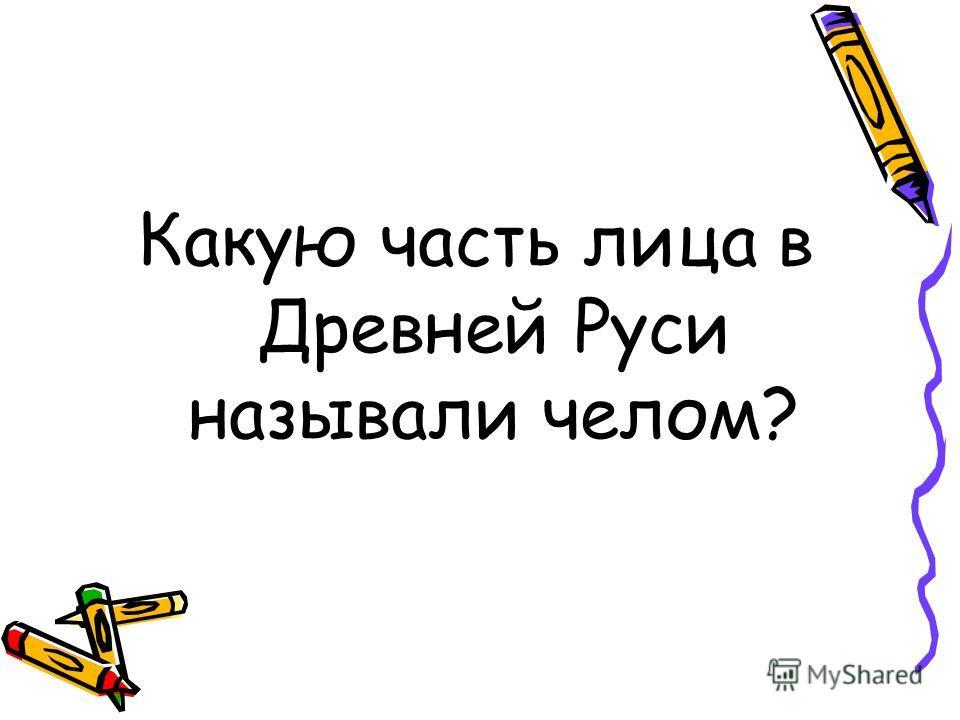 Какую часть лица в Древней Руси называли челом?