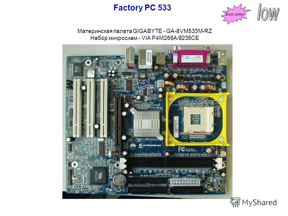 Материнская палата GIGABYTE - GA-8VM533M-RZ Набор микросхем - VIA P4M266A/8235CE Factory PC 533 Best seller