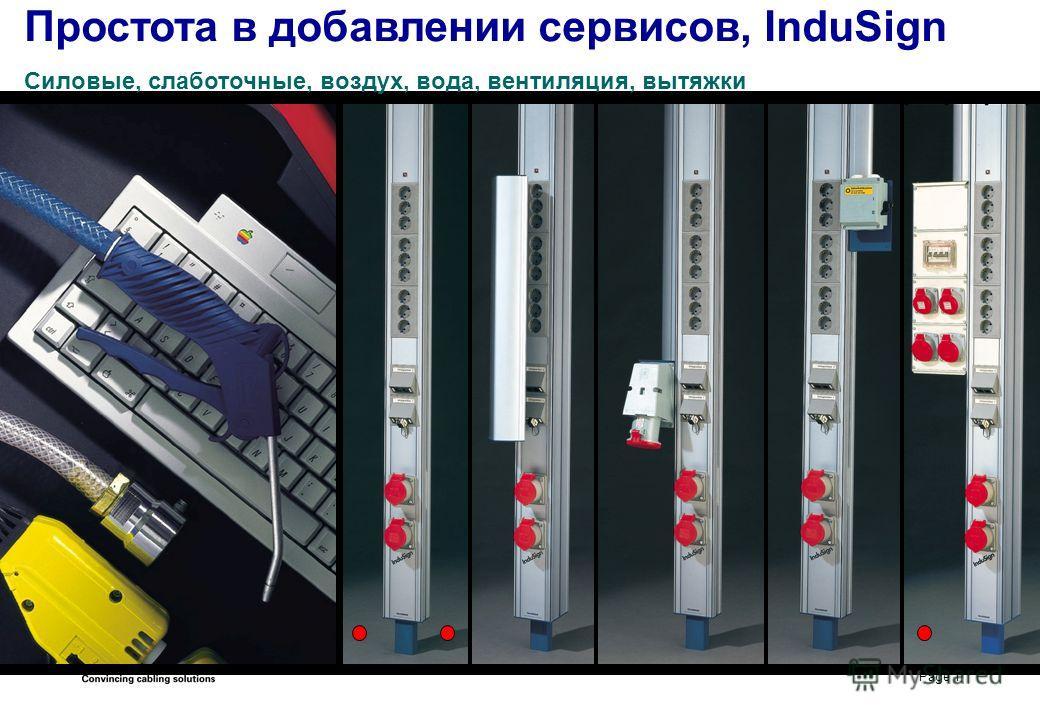 Page 1 Простота в добавлении сервисов, InduSign Силовые, слаботочные, воздух, вода, вентиляция, вытяжки
