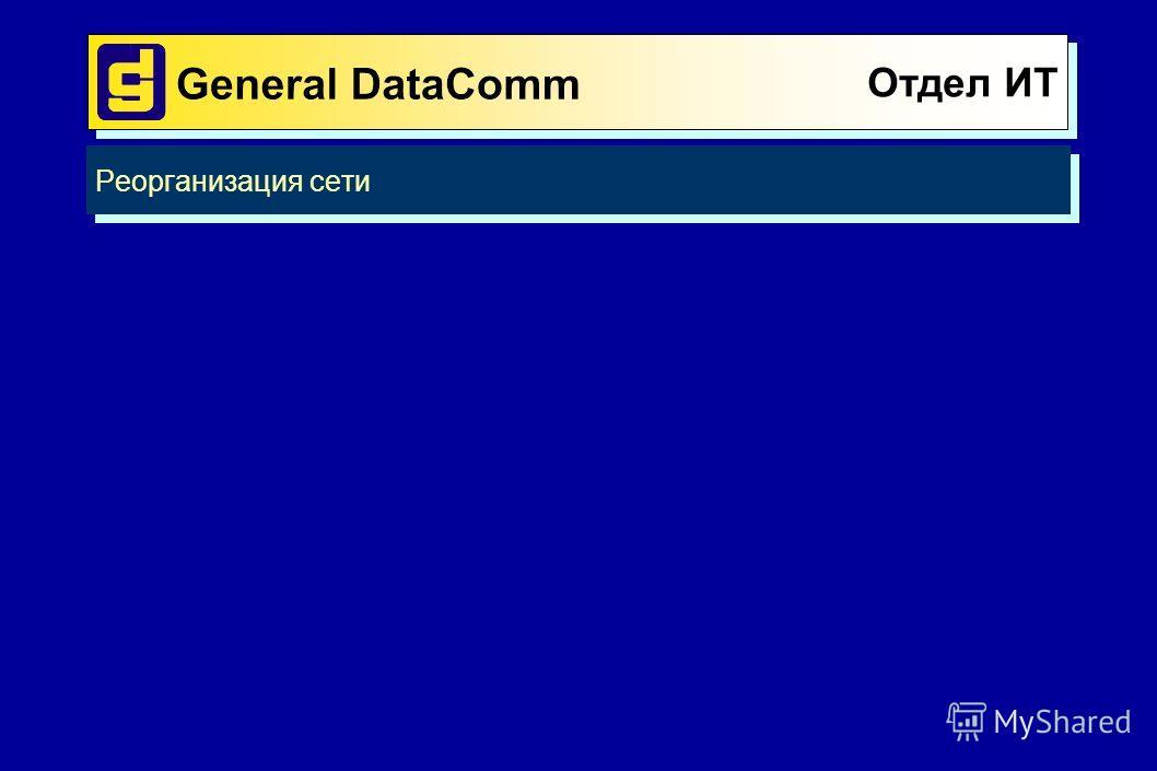 Отдел ИТ Реорганизация сети