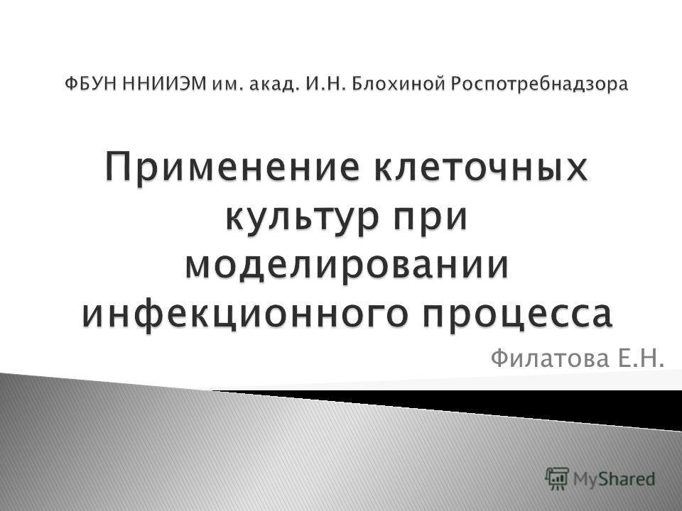 Филатова Е.Н.