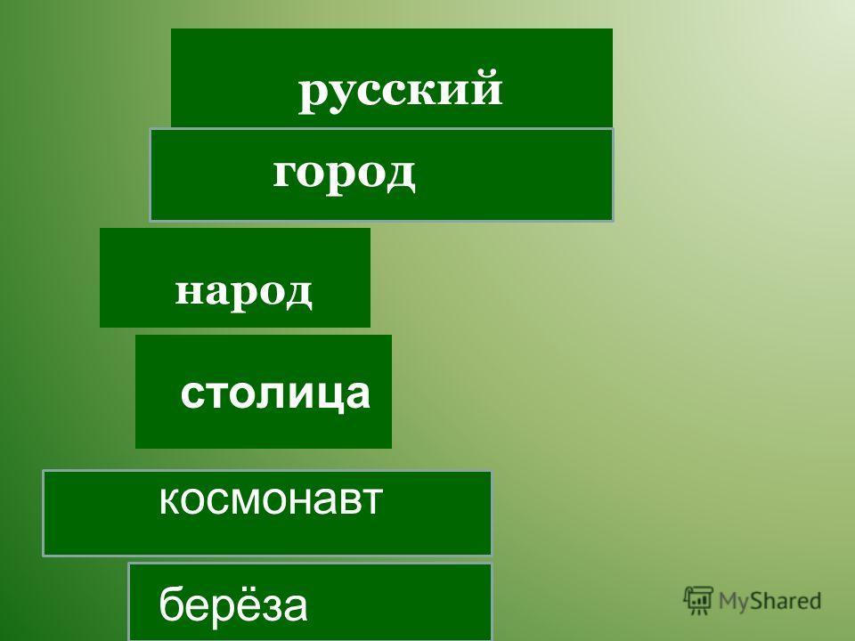 столица народ русский космонавт город берёза