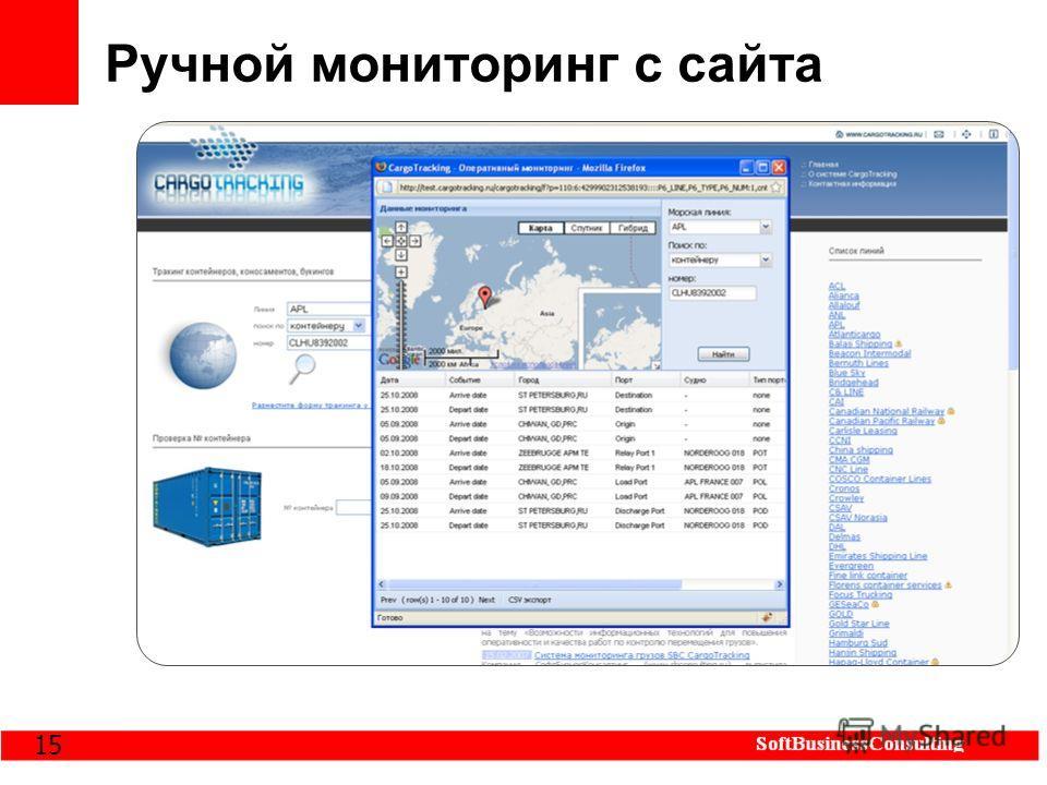 15 Ручной мониторинг с сайта