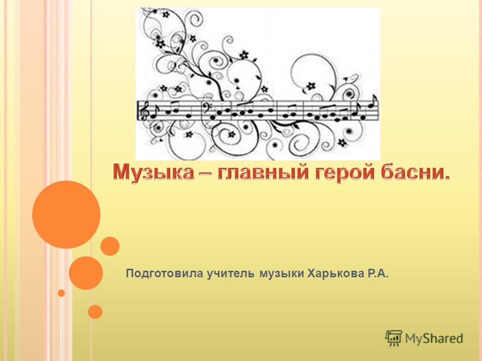 Подготовила учитель музыки Харькова Р.А.