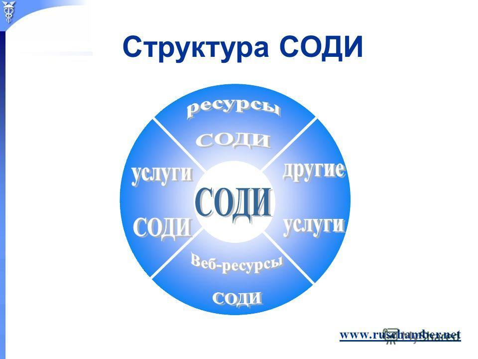 www.ruschamber.net Структура СОДИ