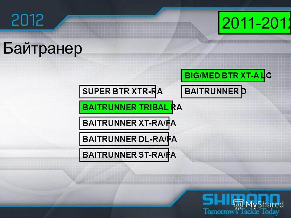 SUPER BTR XTR-RA BAITRUNNER TRIBAL RA BAITRUNNER XT-RA/FA BAITRUNNER DL-RA/FA Байтранер 2011-2012 BIG/MED BTR XT-A LC BAITRUNNER D BAITRUNNER ST-RA/FA