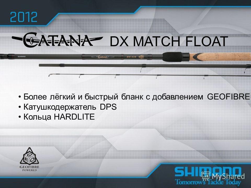 Более лёгкий и быстрый бланк с добавлением GEOFIBRE Катушкодержатель DPS Кольца HARDLITE DX MATCH FLOAT
